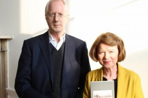 Graham Morrison & Rebecca Farmer (Shortlisted poet) at the launch of the anthology