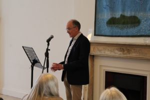 Padraig Holmes, Chairman, Strokestown Poetry, and MC for the launch