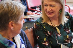 Peggy Gallagher and Jean O'Brien at Poetry Ireland