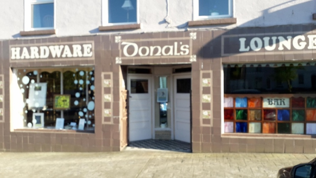 Donal's Pub and Hardware - 1st prize in the Poetry themed shop window competition 2019